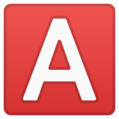 Negative Squared Latin Capital Letter A google emoji