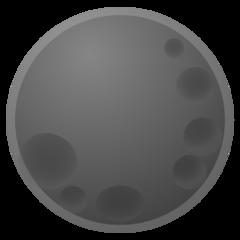 New Moon Symbol google emoji
