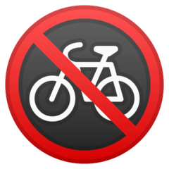 No Bicycles google emoji