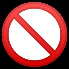 No Entry Sign google emoji