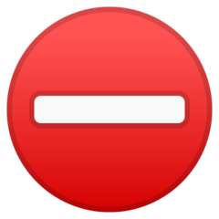 No Entry google emoji