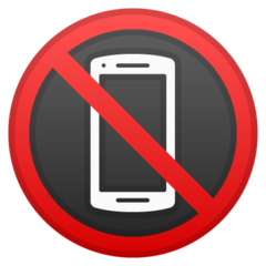 No Mobile Phones google emoji