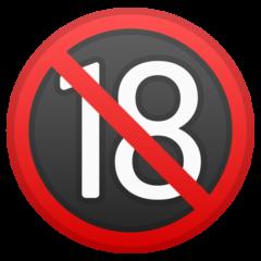 No One Under Eighteen Symbol google emoji