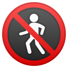 No Pedestrians google emoji