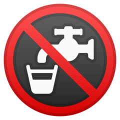 Non-potable Water Symbol google emoji