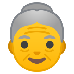 Older Woman google emoji