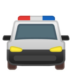 Oncoming Police Car google emoji