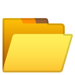 Open File Folder google emoji