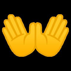 Open Hands Sign google emoji