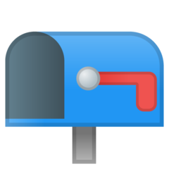 Open Mailbox With Lowered Flag google emoji