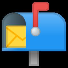 Open Mailbox With Raised Flag google emoji