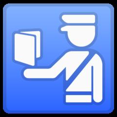 Passport Control google emoji