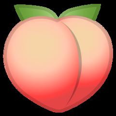Peach google emoji