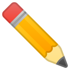 Pencil google emoji