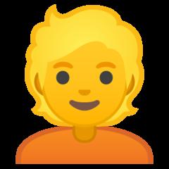 Person With Blond Hair google emoji