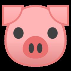 Pig Face google emoji
