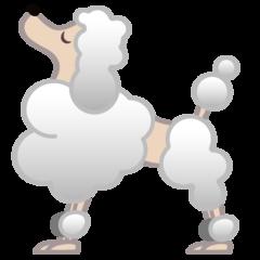 Poodle google emoji