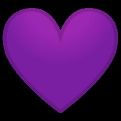 Purple Heart google emoji