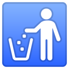 Put Litter In Its Place Symbol google emoji