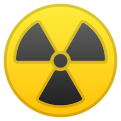 Radioactive Sign google emoji