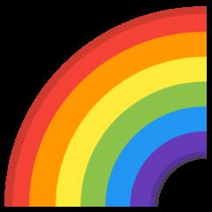 Rainbow google emoji