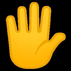 Raised Hand With Fingers Splayed google emoji