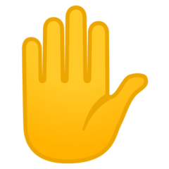 Raised Hand google emoji