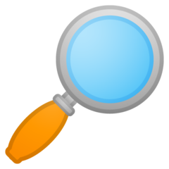 Right-pointing Magnifying Glass google emoji