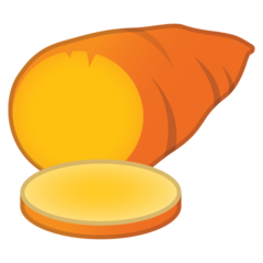 Roasted Sweet Potato google emoji
