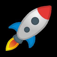 Rocket google emoji