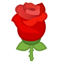 Rose google emoji