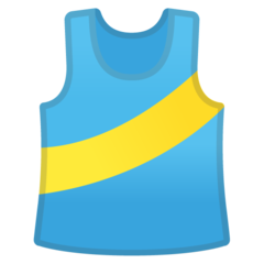 Running Shirt With Sash google emoji
