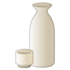 Sake Bottle And Cup google emoji