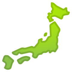 Silhouette Of Japan google emoji