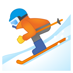 Skier google emoji