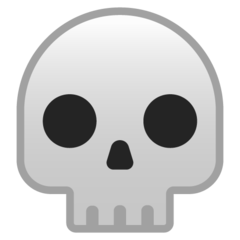 Skull google emoji