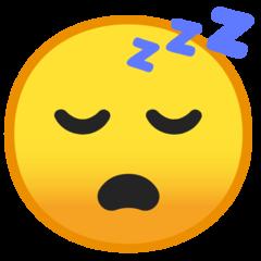Sleeping Face google emoji