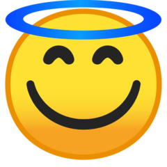 Smiling Face With Halo google emoji