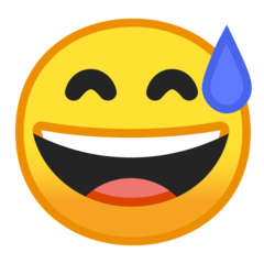 Smiling Face With Open Mouth And Cold Sweat google emoji