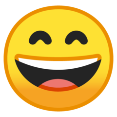 Smiling Face With Open Mouth And Smiling Eyes google emoji