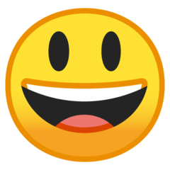 Smiling Face With Open Mouth google emoji