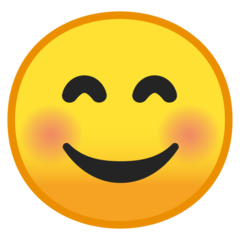 Smiling Face With Smiling Eyes google emoji