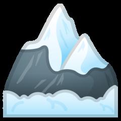 Snow Capped Mountain google emoji