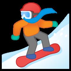 Snowboarder google emoji