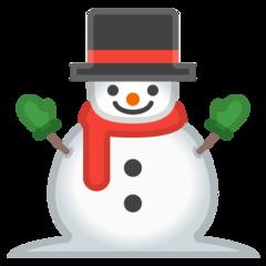 Snowman Without Snow google emoji