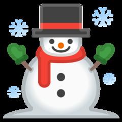 Snowman google emoji