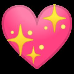 Sparkling Heart google emoji