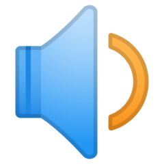 Speaker With One Sound Wave google emoji