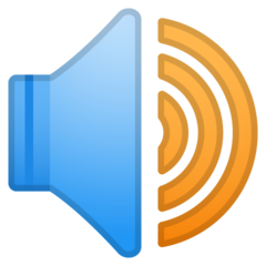 Speaker With Three Sound Waves google emoji