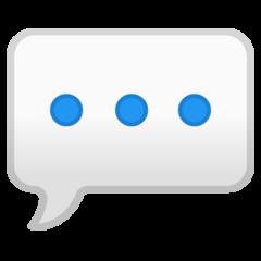 Speech Balloon google emoji